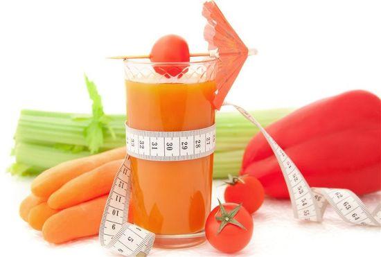 Свежевыжатые полезные соки для похудения