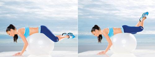 Упражнения на фитболе для похудения с мячом с отзывами худеющих