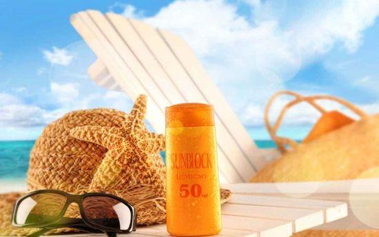 Крем от загара, шляпа, пляж, солнечные очки